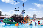 China Corsair Aqua Play Water Park Equipment / Large Holiday Resort Fiberglass Pirate Ship factory