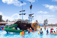 China Customized Fiberglass Pirate Ship / Strong Aqua Splash Water Park Equipment factory