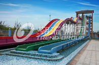 China Cool Huge Fun Rainbow Water Slides With Custom Length 4 Lanes company