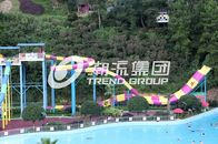 China Customized Water Park Equipment Exciting Swwiming Pool Fiberglass Waterslides For Adults factory