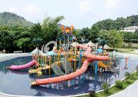 China Commercial Medium Water House Aqua Playground Platform With Water Slide for Water House factory