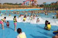 China Aqua Park Wave Pool Equipment , Waterpark Wave Machine For Family Fun factory