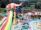 China Large - scale Custom Family Water Slides with Galvanized steel Material factory