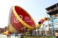 China Red / Yellow / Green Fiberglass Water Slides for outdoor playground factory