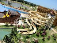 China Custom Fiberglass Water Slides for amusement park with 1 year Warranty factory