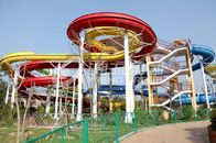 China Galvanized carbon steel Custom Water Slides For Giant Outdoor Water Park factory