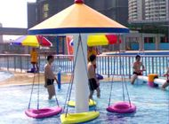 China Ashland Resin Hanging Chair Aqua Play Water Park For 4 Kids 1 Year Warranty factory