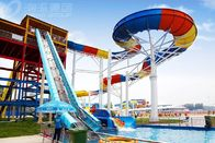 China Giant Aqua Park Equipment Exciting Swimming Pool Fiberglass Waterslides For Adults factory