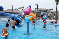 China Rabbit Cartoon Aqua Play Structures, Spray Park Equipments, Water Playground Equipment factory