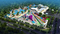 China Large Holiday Waterpark Project , Indoor Amazing Funny Water Park / Customized water slide factory