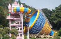China Water Attractions Tornado Slide, Fiberglass Water Slides 14.6m Height Customized factory