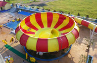 China Aqua Park Equipment Fiberglass Water Slides, 19m Height Waterpark Super Bowl For 2 People factory