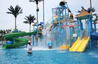 China Parent-child Theme Big Aqua Playground Fiberglass Water House for Amusement Park factory
