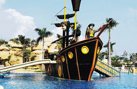 China Customized Fiberglass Pirate Ship / Corsair Aqua Play Water Park Equipment factory