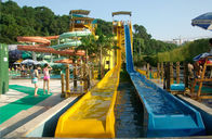 China OEM Variable Speed Race Slide, Free Fall Slide, Kids / Adults Fiberglass Water Slides factory