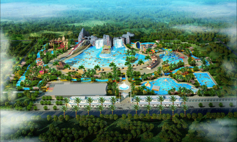 Safety Large Scale Waterpark Project Design For Outdoor