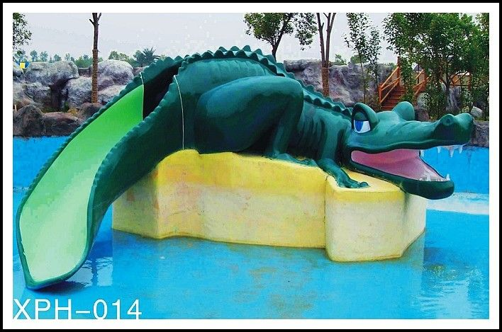 Kids Pools With Slides water park equipment crocodile slide , small water pool slides for