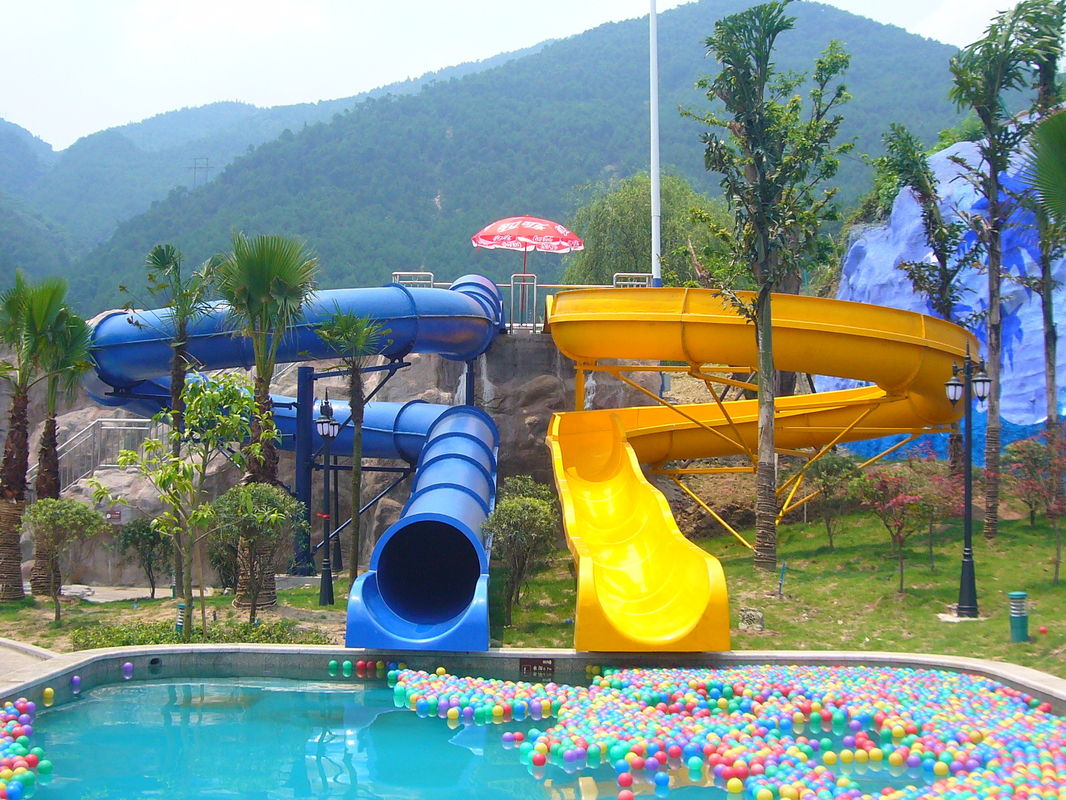 Waterpark Equipment Kids Body Water Slides Fiberglass Pool Slide For Aqua Park