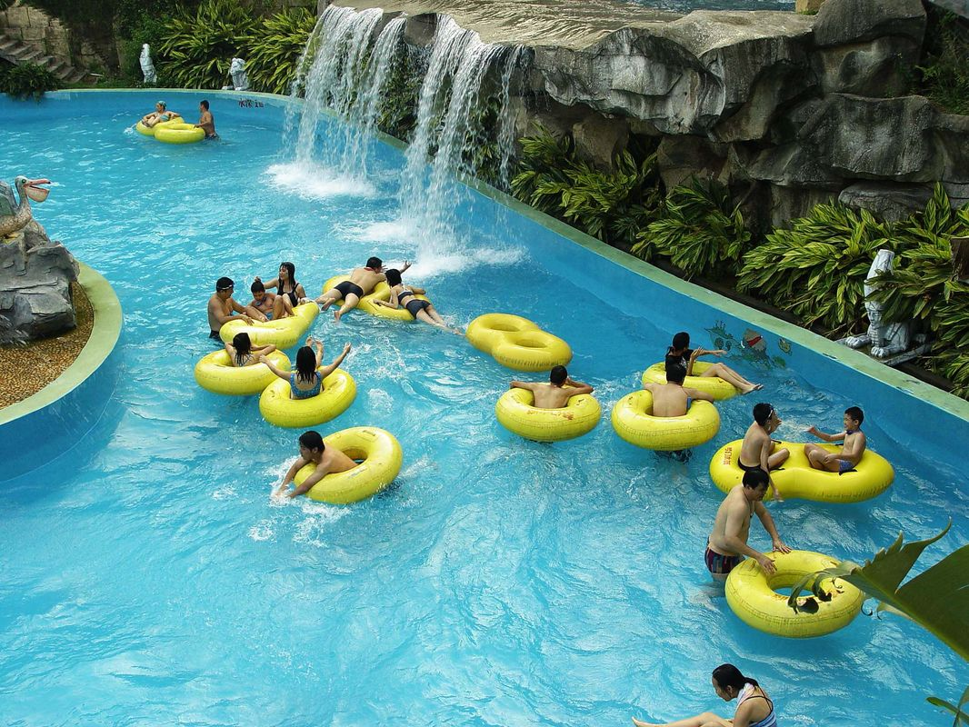 Lazy River Pool For Relax Entainment Of Amusement Water Park