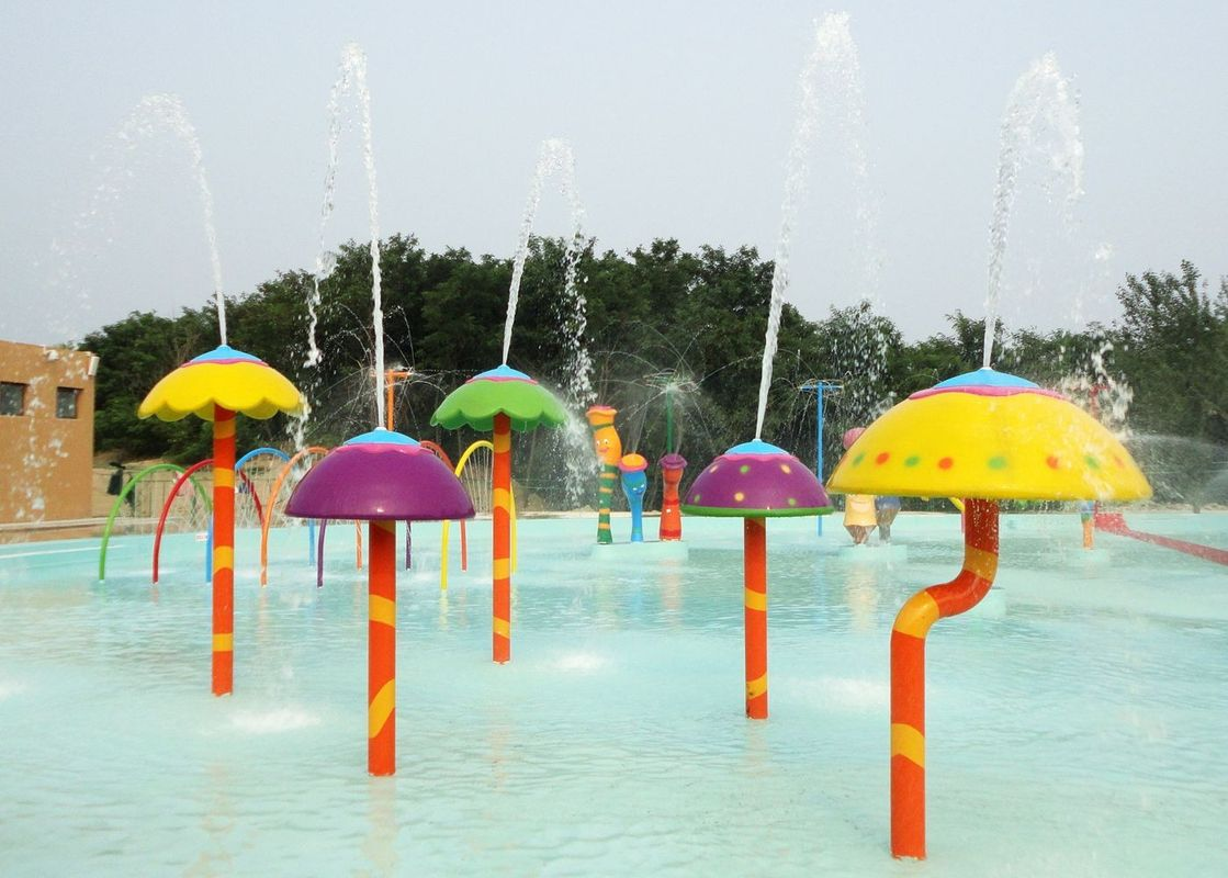 Spray Mushroom Group Aqua Play Spray Water Park Equipment
