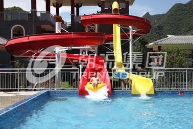 China General Water Park Item Custom Water Slides High Speed With 120 Riders / H Capacity factory