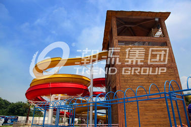 China Custom Water Slides For Big Outdoor Resort Spiral Water Park , ISO-9001 factory