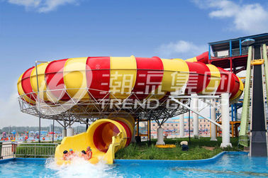 Exciting Garden Water Slide , Giant Space Backyard Water Slides Red / Yellow
