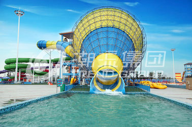 Water Park Equipment Adult Large Water Slide 4 Persons Riding