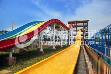 China Professional Custom Water Slides , Commercial Rainbow Water Slide factory