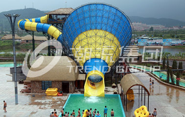 China Customized Fiberglass Commercial Family Water Slide For Holiday Resort , 16m Height factory
