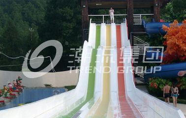 China 304 Stainless Steel Water Theme Park Waterslide for Hotel / Resorts Used factory