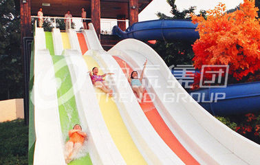 China Multi Lanes Rainbow FRP Custom Water Slides Amusement Park Big Water Slide factory