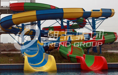 China Customized Spiral Fiberglass Water Slide Games For Resorts Or Hotel factory