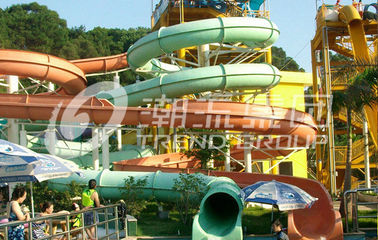 China Water Park Custom Water Slides Local Giant Hotel For Vacation factory