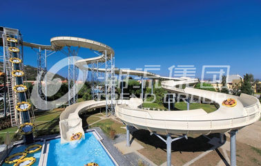 China Galvanized Carbon Steel Custom Water Slides FPR Water Park Large Water Slides factory