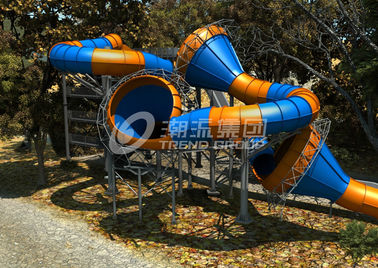 China Newest Amusement Waterpark Equipment Giant Fiberglass Constrictor Slide for Theme Water Park factory