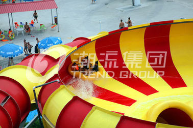 China Adult Long Big Water Slides For Amusement Park / Space Bowl Water Slides 180riders/H Capacity factory