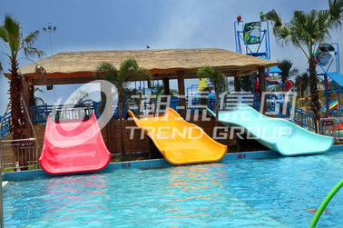 China Commercial Water Park Equipment Fiberglass Water Slides for Swimming Pool factory