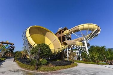 Adult Fiberglass Water Slides 16m Height 4 Persons / Time 42*60m Floor Space for Water Park