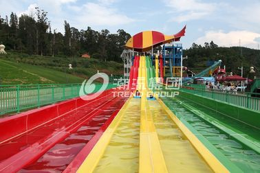 China Fiberglass Water Park Equipment Custom Water Slides / Adventure Water Slides for Themed Park factory
