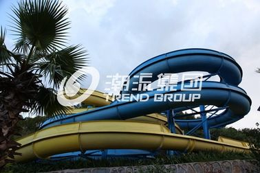 China Adult Giant Spiral Fiberglass Water Slide For Outdoor Amusement Park factory