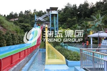 China High Speed Custom Water Slides , Adults Fiberglass Free Fall Slide For Giant Water Park factory