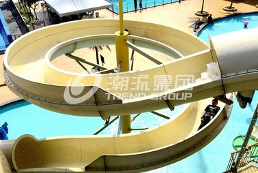 China Stainless Steel Fastener FRP Spiral Water Slides For Giant Outdoor Water Park factory