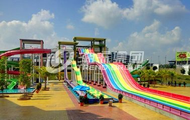 China General Water Park Custom Rainbow Water Slides High Speed Adult Plastic Water Slide factory