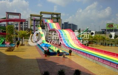 China Rainbow FRP Custom Water Slides Commercial Outdoor Water Slides Red / Yellow / Green factory