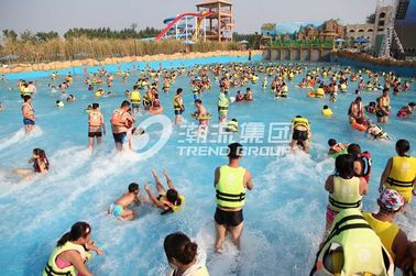 China Family Water Park Wave Pool Equipment , Fiberglass Aqua Park Products Machine factory