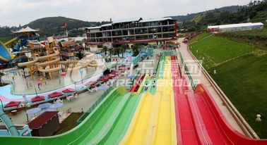China Commercial FRP Fiberglass Rainbow Water Slides customized SGS ISO9001 factory