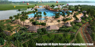 Safe Customized Theme Water Park Conceptual Design For Amusement Park