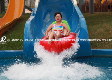 China Outdoor Custom Water Slides Fiberglass , Popular Water Park Equipment factory