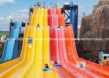 China Theme Park Custom Water Slides Steel Structure For Hotel / Resorts Used factory